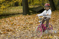 Autumn bike riding Royalty Free Stock Photo