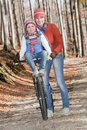 Autumn biking Royalty Free Stock Image