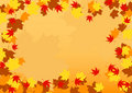 Autumn border Royalty Free Stock Photography
