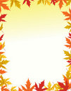 Autumn border design Stock Image