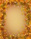 Autumn border fall thanksgiving Στοκ Εικόνα