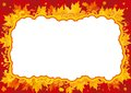 Autumn border vector background with many maple leaves and ornate elements Royalty Free Stock Photography