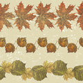 Autumn borders hand drawn from leaves Royalty Free Stock Photography