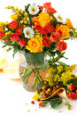 Autumn bouquet in a vase Royalty Free Stock Images