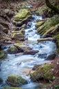 Autumn brook cascade Royalty Free Stock Photo
