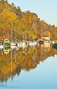 Autumn on Caledonian Canal Stock Photography