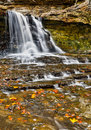 Autumn Canyon Falls Royalty Free Stock Photo