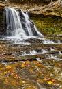 Autumn Canyon Falls Royalty Free Stock Photo
