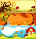 Autumn card set Stock Image