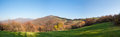 Autumn in carpathians panoramic view from the pasture on carpathian mountains Stock Image