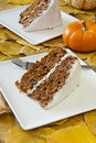 Autumn Carrot Cake for Two Stock Image