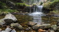 Autumn cascade river Royalty Free Stock Photo
