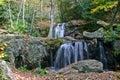 Autumn Cascade Royalty Free Stock Photo