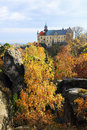 Autumn castle hruba skala in bohemian paradise czech republic colorful Stock Image