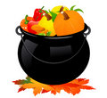 Autumn cauldron Royalty Free Stock Photo