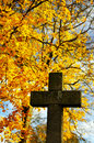 Autumn in the Cemetery Royalty Free Stock Photos