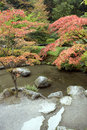 Autumn charm in Japanese garden Stock Images