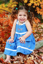 Autumn Child Royalty Free Stock Image