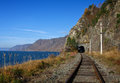 Autumn on the Circum-Baikal railway Royalty Free Stock Photo