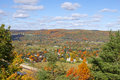Autumn color in pennsylvania view of tioga from scenic overlook Royalty Free Stock Image