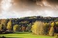 Autumn colored landscape Stock Photo
