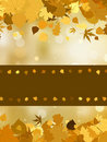 Autumn with colored leaves on bokeh effect. EPS 8 Royalty Free Stock Photo