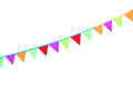 Autumn colorful festive flags and garlands. Royalty Free Stock Photo