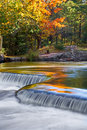 Autumn Colors at Bond Falls Royalty Free Stock Photo