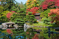 Autumn Colors Japanese Garden Royalty Free Stock Photos