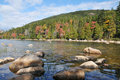 Autumn colors in the National Park of Bar Harbor Royalty Free Stock Photo