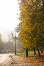 The autumn colors in the park, Turin Royalty Free Stock Photo