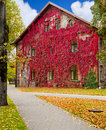 Autumn colors in Sigulda, Latvia Stock Photo