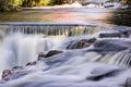 Autumn Colors at Upper Bond Falls, Michigan Royalty Free Stock Photo