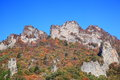Autumn colours of crag mt myogi gunma japan Stock Photo