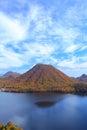 Autumn colours of Mountain and lake Royalty Free Stock Photo