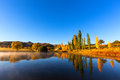Autumn colours near clarens south africa Royalty Free Stock Images