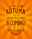 Autumn is coming design. Royalty Free Stock Photo