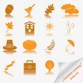 Autumn coming soon icon set Royalty Free Stock Photo