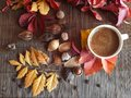 Coffee Cup On The Autumn Fall ...
