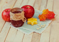 Autumn concept of food vintage Stock Images