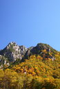 Autumn crag mountain Royalty Free Stock Photo