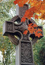 Autumn cross Royalty Free Stock Photography