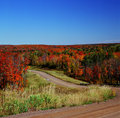 Autumn crossroads superior national forest showcasing colors along scenic roadways traversing the in minnesota Royalty Free Stock Photography