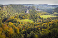 Autumn day Saxon Switzerland Stock Photos