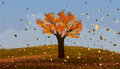 Autumn. Deciduous Tree With Or...