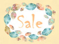 Autumn discount banner with beautiful color wreath with leaves autumnal sale floral fall vintage foliage frame season Royalty Free Stock Photos
