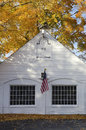 Autumn in essex connecticut classic new england architecture along main street Stock Photography