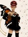 Autumn fairy Stock Photos