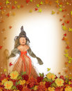 Autumn Fall border Halloween  Royalty Free Stock Image