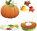 Autumn and fall icons Stock Photos